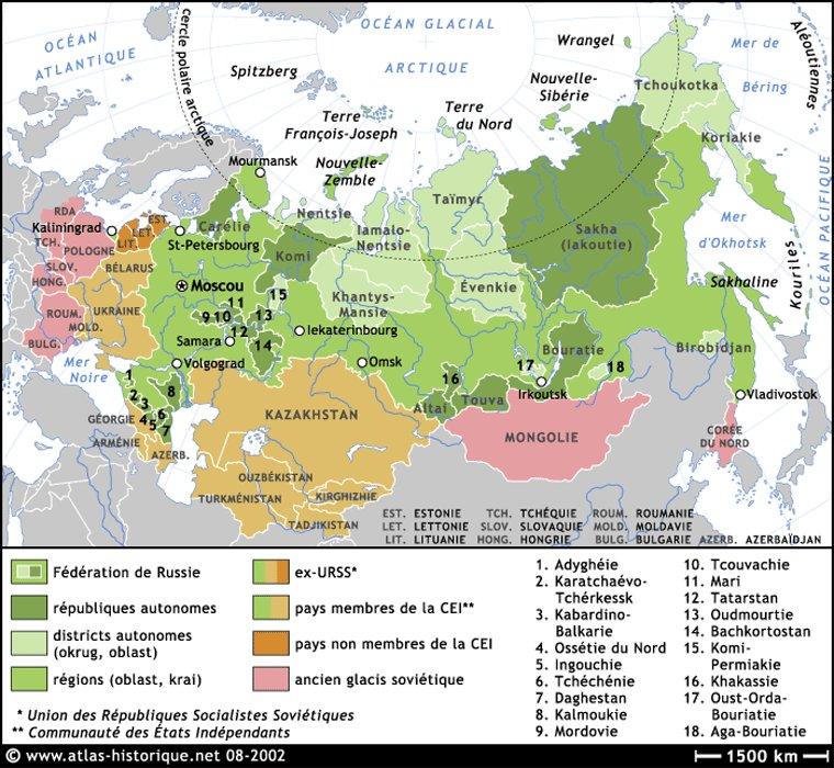 Carte Federation De Russie | tonaartsenfotografie